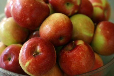 closeup of bowl of apples