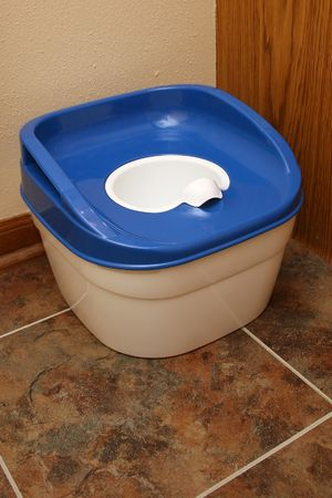 generic toddler training toilet Stock Photo