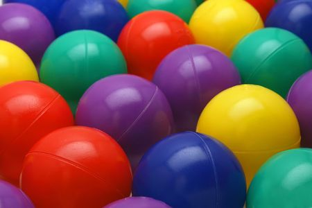 Ball pit balls with shallow depth of field