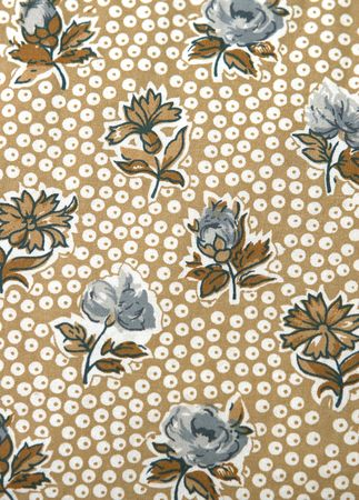 vintage floral pattern with dots Фото со стока