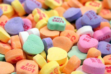assortment of candy hearts Фото со стока