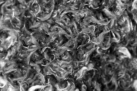 black and white wooly background