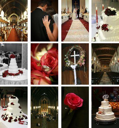 twelve wedding-themed images