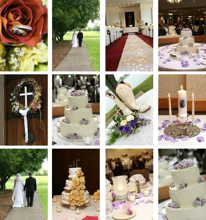 unity small flower: twelve small wedding themed images ideal for web pages Stock Photo