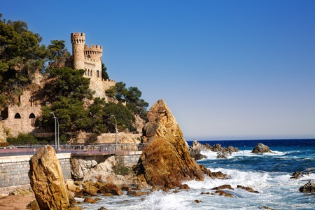 castle Sant Joan in Costa Brava , Lloret De Mar, Catalonia, Spain 写真素材
