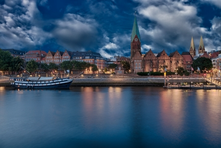 The City Municipality of Bremen is a Hanseatic city in northwestern Germany  A commercial and industrial city with a major port on the river Weser 写真素材