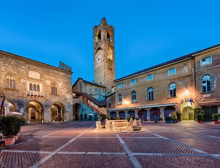 Miasta Bergamo starego placu