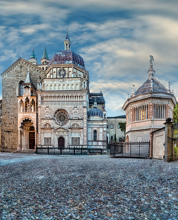 The Cappella Colleoni is a church and mausoleum in Bergamo in northern Italy. 写真素材