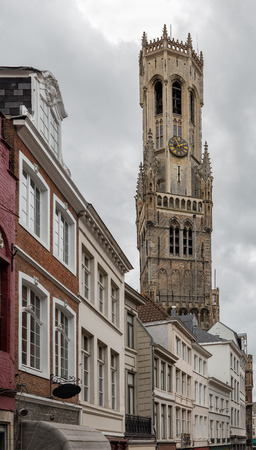 The belfry of Bruges is a medieval bell tower in the historical centre of Bruges, Belgium. Reklamní fotografie
