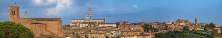 Panoramic view of Siena city, Tuscany, Italy.