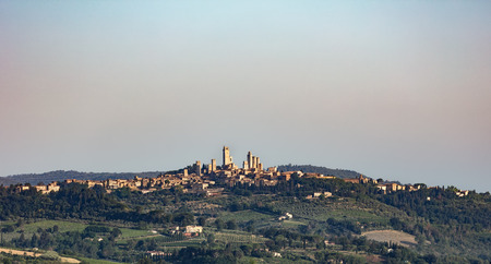 San Gimignano is a small walled medieval hill town in the province of Siena, Tuscany, north-central Italy. Reklamní fotografie