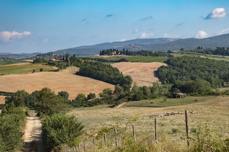 Beautiful Tuscan rural scenery atmosphere. Italia.
