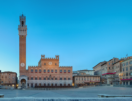 Piazza del Campo is the principal public space of the historic center of Siena, Tuscany, Italy and is regarded as one of Europes greatest medieval squares Reklamní fotografie