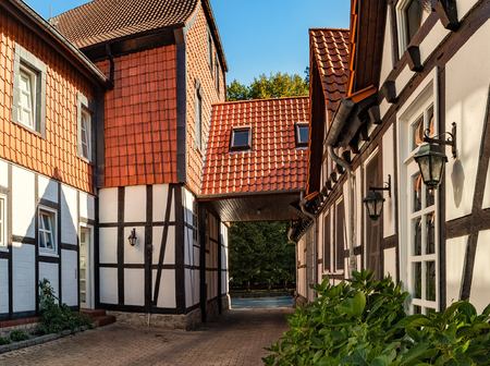 One courtyard in Braunschweig, Lower Saxony, Germany.