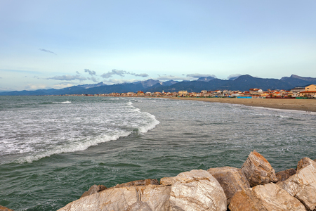 Viareggio is a city and comune in northern Tuscany, Italy, on the coast of the Tyrrhenian Sea.