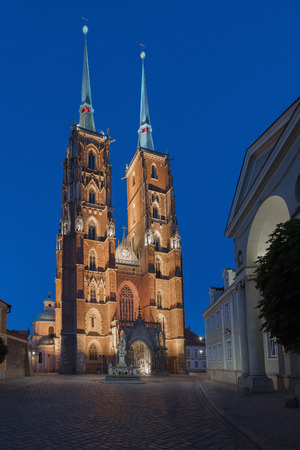 The Cathedral of St. John the Baptist in Wroclaw, is the seat of the Roman Catholic Archdiocese of Wroclaw and a landmark of the city of Wroclaw in Poland.
