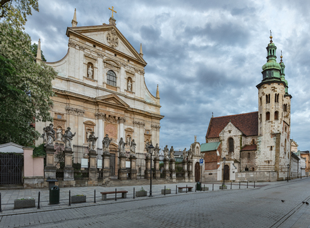 The Church of Saints Peter and Paul in the Old Town district of Krakow, Poland is a Roman Catholic