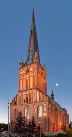 The Cathedral Basilica of St. James the Apostle in Szczecin was built by the citizens of the city and modeled after the Church of St. Mary in Lubeck.