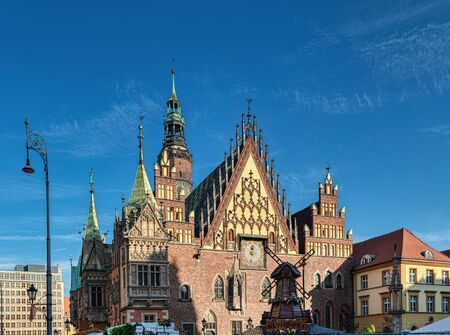 Market square and Town Hall in Wroclaw city