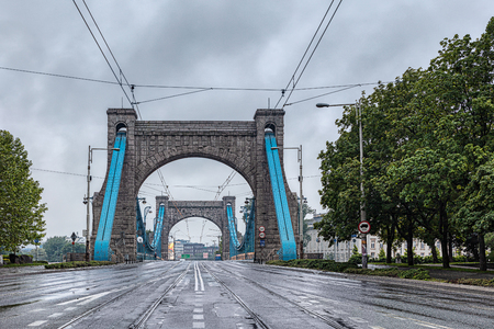 Grunwald Bridge is a suspension bridge over the river Oder in Wroclaw, Poland.