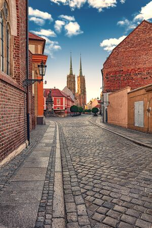 The Cathedral of St. John the Baptist in Wroclaw, is the seat of the Roman Catholic Archdiocese of Wroclaw and a landmark of the city of Wroclaw in Poland. The cathedral, located in the Ostrow Tumski district, is a Gothic church with Neo-Gothic additions.