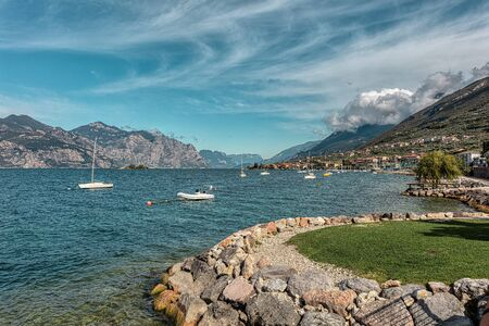 Porto of Brenzone one of the most beautiful villages of Lake Garda.