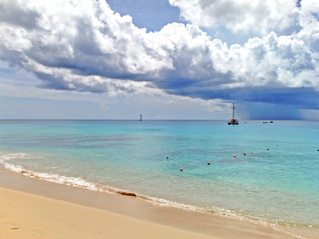 clear waters: Lovely beach on the island of barbados, showing lovely clear waters and skys,