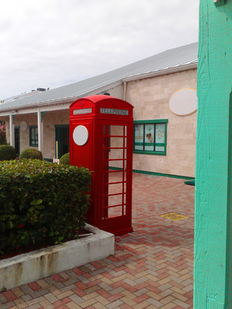 phonebox: Red GPO  BT phone box shown in the Bahamas, Stock Photo