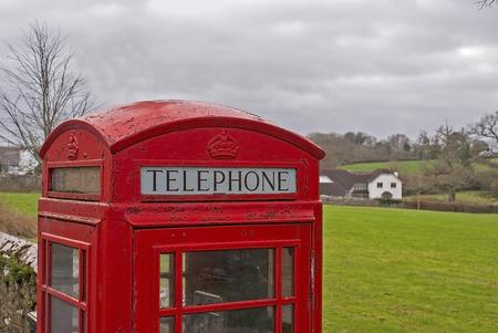 public celebratory event: GPO phone box in a rural village