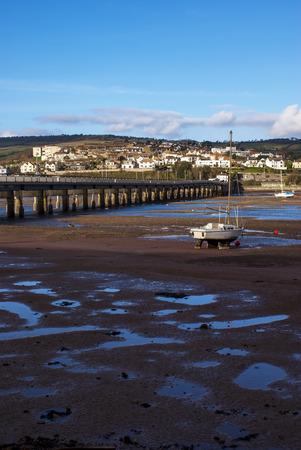 brige: Sailing Boats on the Teignmouth estuary devon uk