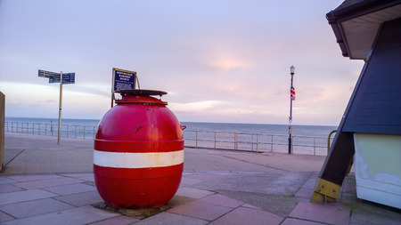 amusment: Old naval mine shown by teingmouth pier