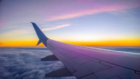 view window: view form a airplane window Stock Photo