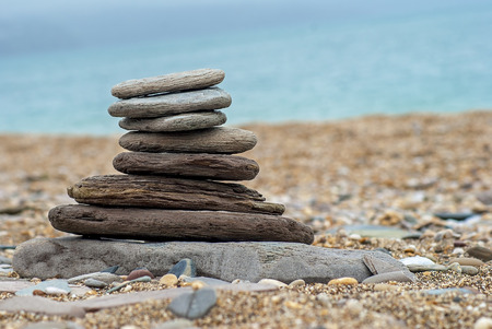 pebbles and stones on a beach in devon uk