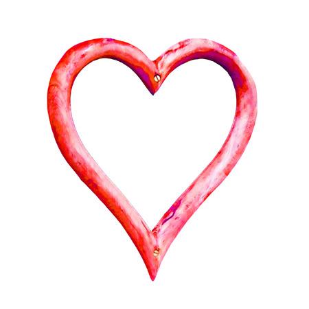 mediaan: Geïsoleerde hart vorm, illustratie, gemaakt met behulp van mediaan ruisonderdrukking Stockfoto