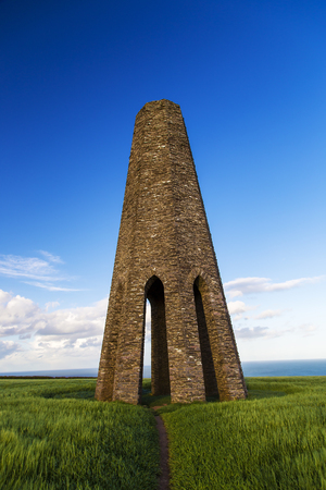 navigation aid: Kingswear, Devon, UK - May 21 2015, Showing the Daymark navigation aid errected in 1864 to aid sailers into the estuary