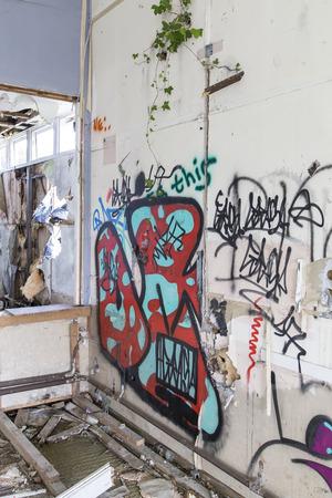 rundown: Old decayed rundown building