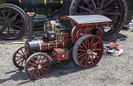 steam traction: Wadebridge Cornwall UK June 6 2015  Old fashioned Steam powered traction engine