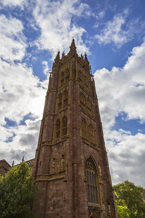 somerset: Taunton, Somerset, England UK - JULY 7th 2015 - Showing St Mary Magdalene Church in the center of Taunton city centre.