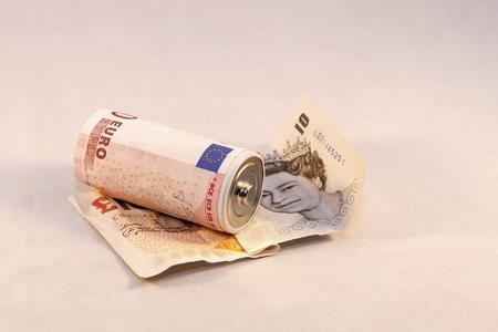 power of money: Money is power Stock Photo