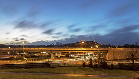 abbot: Newton abbot, Devon, UK, December 23 2015 - Showing the new bridge for the south devon link road from newton abbot to torquay Editorial