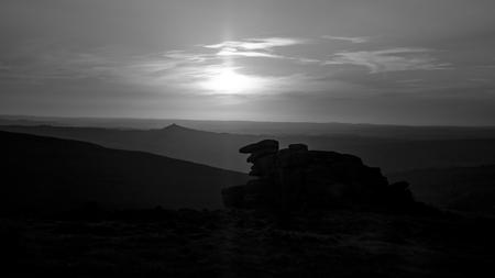 masonary: Various shots at Staple Tor on Dartmoor National Park at dusk, in Devon UK