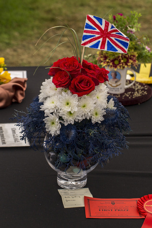 Wadebridge, Cornwall, UK, June 11 2016 - Showing a display for the British Queens 90th birthday Editorial