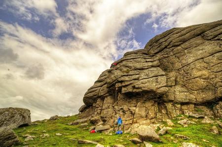 decent: Climbers Haytor