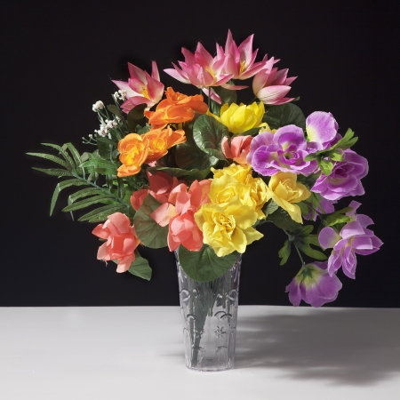 colorful flowers: Fake Flower Bouquet