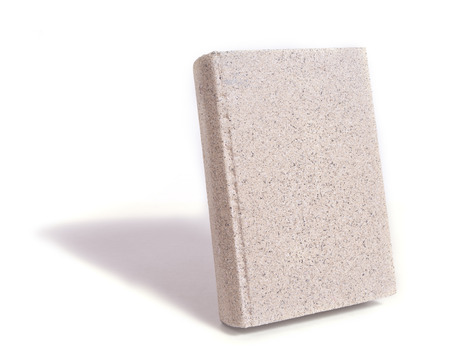 A ook made of stone against a white background.