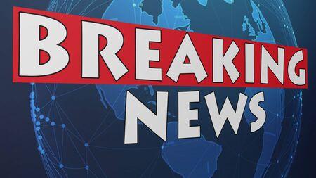 Breaking News Graphic 001 Banco de Imagens