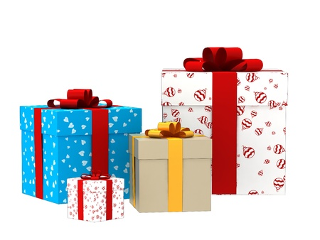 3d gift boxes for all celebration Stock Photo - 17470854