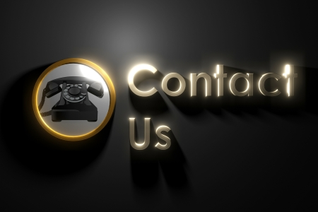 contact us: glow contact us on wall