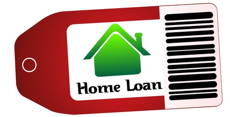 home loan text in red tag