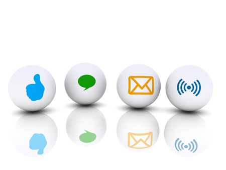 different communication icon for communicate Stock Photo - 17780890